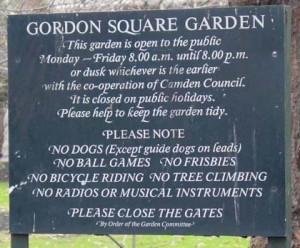 Londons Gardens - Gordon Square